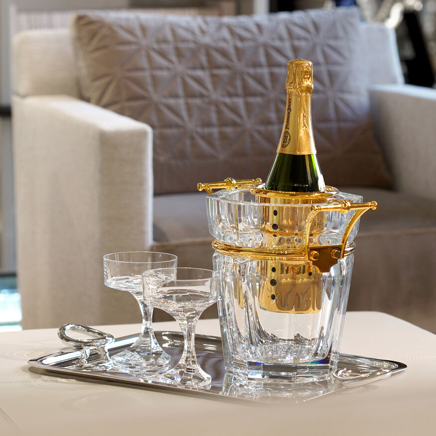HARCOURT CHAMPAGNE COOLER, Clear & gold - 3