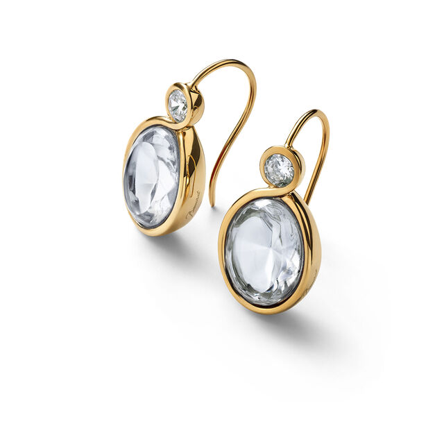 Croisé Earrings clear vermeil, Clear
