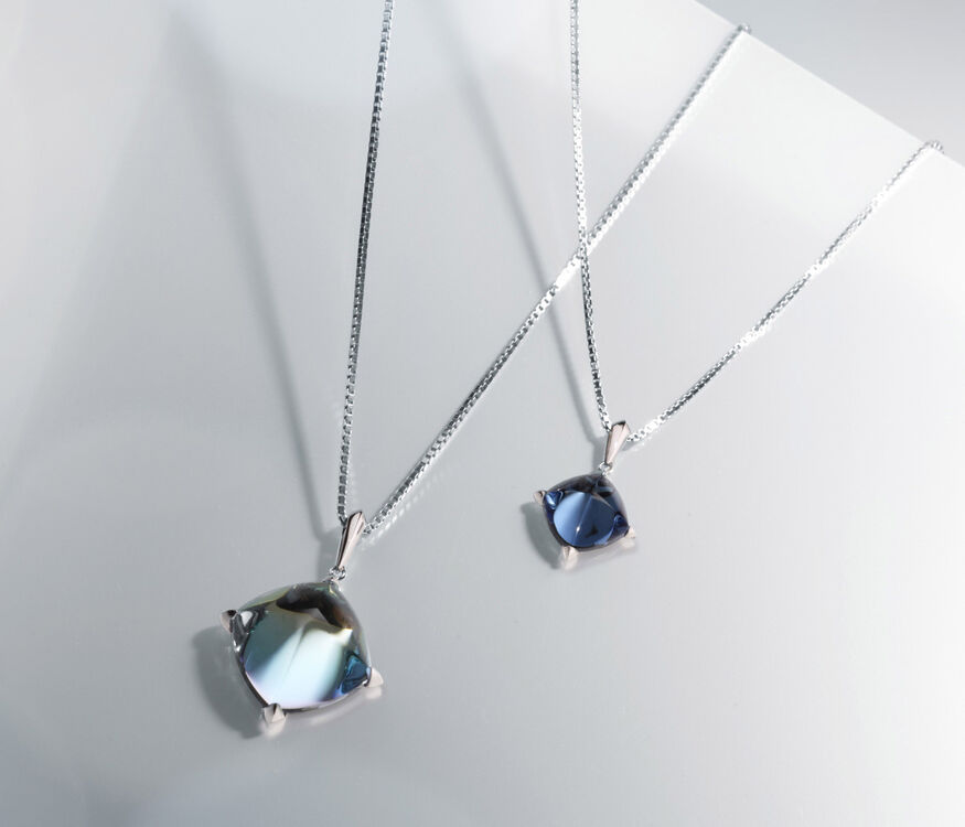 MÉDICIS NECKLACE, Riviera blue - 3