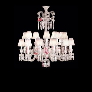 Znith flou je te vois flou chandelier baccarat mixes clear crystal pink crystal and mist crystal alongside frosted ornaments this particular color concept makes the baccarat chandelier of appears aloadofball Gallery
