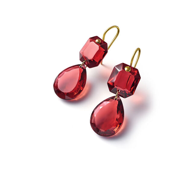 CRYSTAL DROPS OF COLOUR BACCARAT PAR MARIE-HÉLÈNE DE TAILLAC EARRINGS, Red