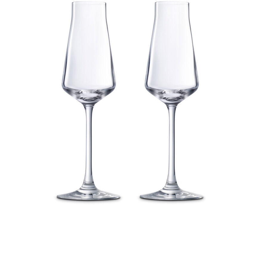CHÂTEAU BACCARAT FLUTE SET OF TWO ,