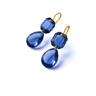 CRYSTAL DROPS OF COLOUR BACCARAT PAR MARIE-HÉLÈNE DE TAILLAC EARRINGS  Blue