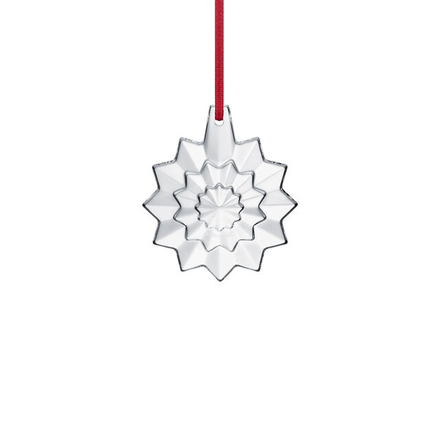CHRISTMAS ANNUAL ORNAMENT ENGRAVED NOËL 2019, Clear