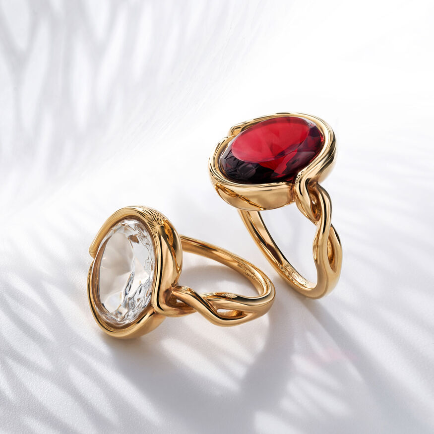 Croisé Ring red vermeil, Red - 2