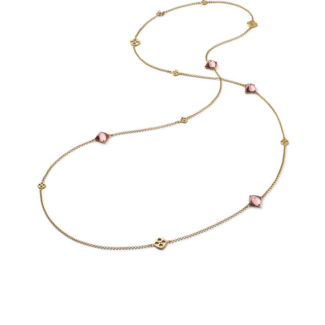 MINI MÉDICIS LONG NECKLACE, Pink
