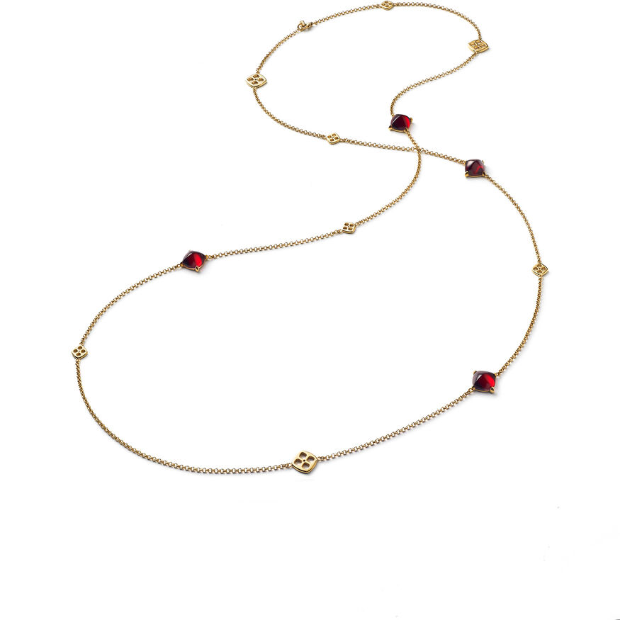 MINI MÉDICIS LONG NECKLACE, Red - 1
