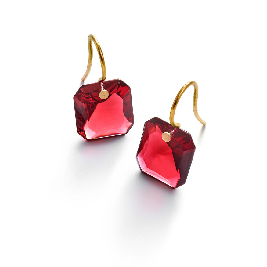 BACCARAT PAR MARIE-HÉLÈNE DE TAILLAC EARRINGS, Red - 1