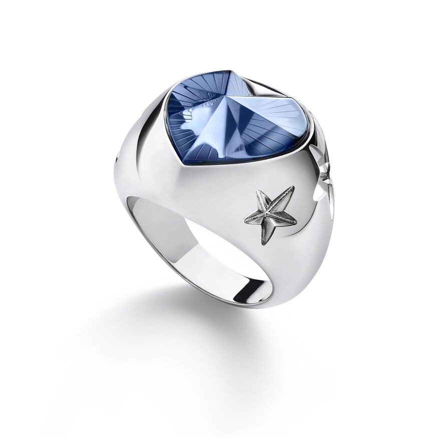 ÉTOILE DE MON COEUR RING, Light blue - 1