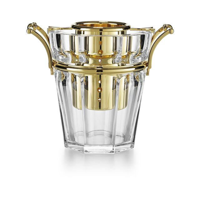 HARCOURT CHAMPAGNE COOLER, Clear & gold