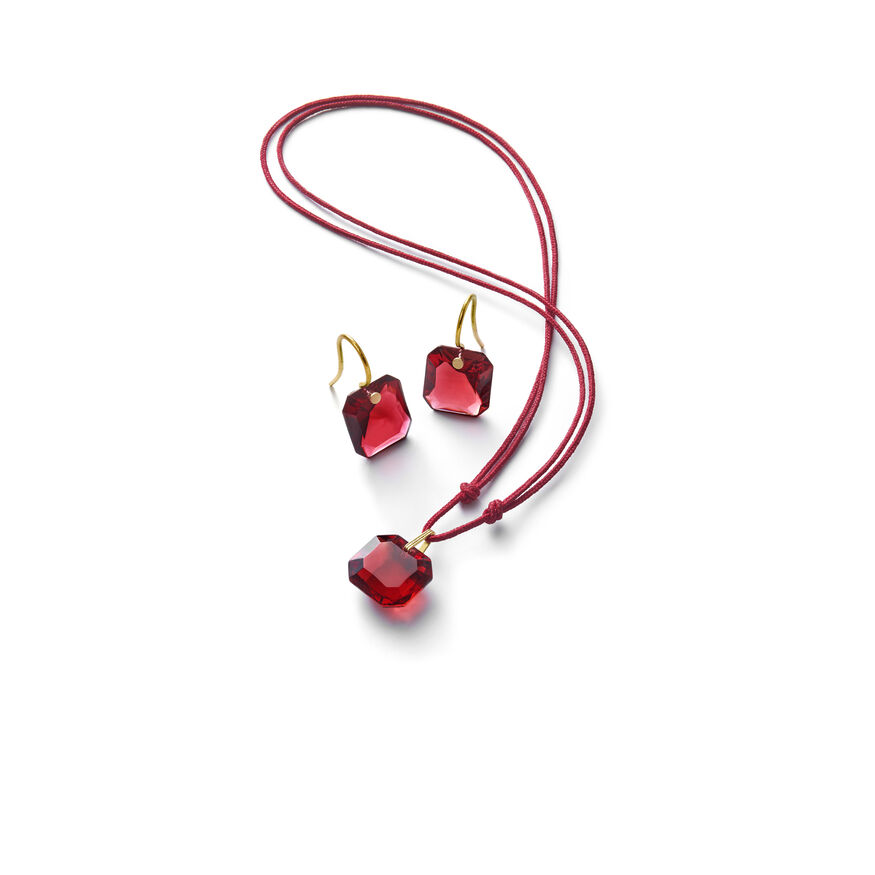BACCARAT PAR MARIE-HÉLÈNE DE TAILLAC EARRINGS, Red - 2